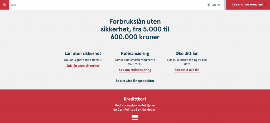 bank norwegian front